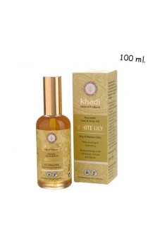 Aceite Facial & corporal ecológico Lirio Blanco Piel seca/madura - Khadi - 100 ml.