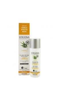 Fluide de jour Réducteur de pores Bambou & Hamamélis bio - Peau mixte - LOGONA - 30 ml.