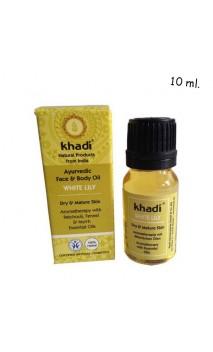 Aceite Facial ecológico Lirio Blanco Piel seca/madura - Khadi - 10 ml.