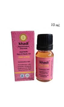 Aceite Facial ecológico Loto Rosado Piel mixta - Khadi - 10 ml.