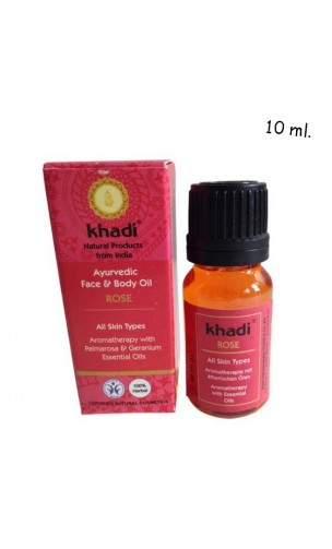 Aceite Facial ecológico Rosa Antimanchas - Khadi - 10 ml.