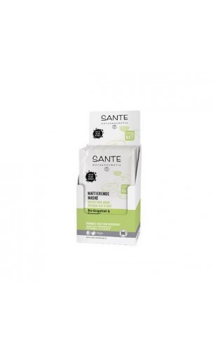 Masque visage bio Matifiant - SANTE - 2 x 4 ml.
