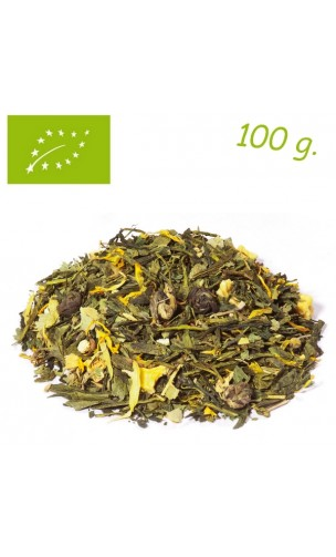 Thé vert/blanc Mellow Mandarine - Elements - Thé bio en vrac - Alveus