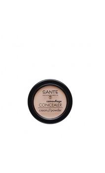 Corrector ecológico Polvo / Crema 02 Sand - SANTE - 3,4 g.