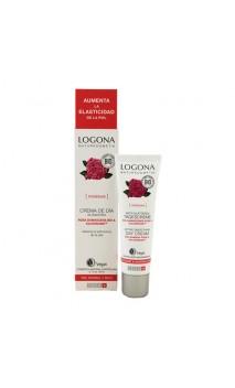 Crema de día Alisadora Rosas Bio - LOGONA - 30 ml.