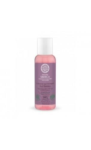Mini Shampooing BIO pour cheveux colorés et abîmés Protection et Brillance - Natura Sibérica - 50 ml.