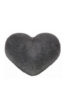 Esponja Konjac Original con Carbón de bambú Piel grasa y acneica - Corazón - KONGY