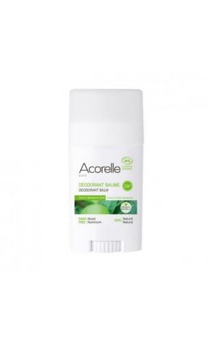 Déodorant bio baume Citron & Mandarine verte - Sans alcool - Acorelle - 40 gr.