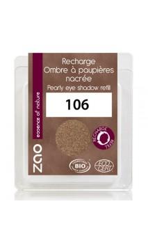 Recharge ombre à paupières bio - Bronze nacrée - ZAO - 106