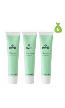 3 x Dentifrice bio Menthe - Avril - 75 ml.