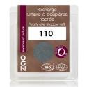 Recharge ombre à paupières bio - Gris métal - Nacrée - ZAO - 110