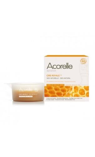 Cire royale naturelle (Aiselles, Maillot et Visage) Cire d'abeille & Extrait de Lys Blanc - Acorelle - 100 g.