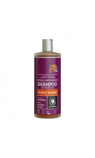 Shampooing BIO Réparateur Baies Nordiques - URTEKRAM - 500 ml.