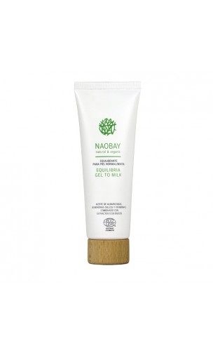 Gel/lait nettoyant bio Equilibrant (Equilibria Gel to milk Cleanser) - NAOBAY - 100 ml.