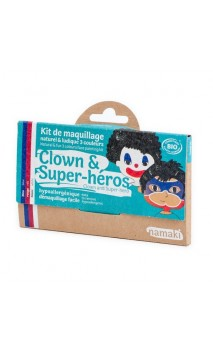 Kit de maquillage bio pour enfants Clown & Super-héros - Namaki