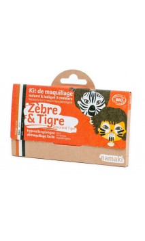 Kit de maquillage bio pour enfants Zèbre & Tigre - Namaki