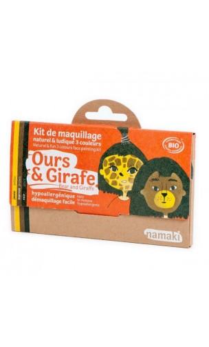 Kit de maquillage bio pour enfants Ours & Girafe - Namaki