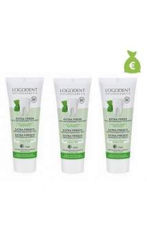 3 x Dentifrice bio menthe Daily Care - Sans fluor - LOGONA - 75 ml.