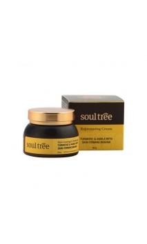 Crema facial ecológica Regeneradora & Antiedad - Cúrcuma & Amla con Brahmi - Soultree - 60 g.