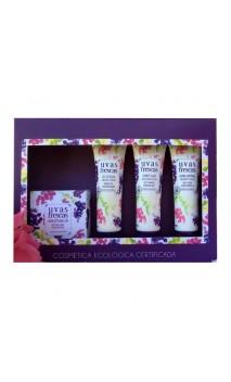 Pack mini format Uvas Frescas (Shampooing, Gel douche, Savon artisanal & Crème Corporelle)  - Uvas Frescas