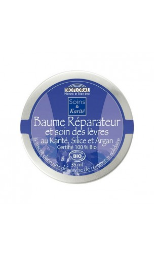 Bálsamo ecológico & Cuidado de labios Reparador Hidratante Manteca de karité, Silicio & Argán – BIOFLORAL – 35 ml.