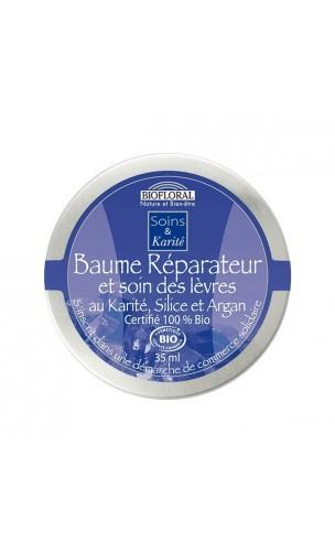 Baume BIO - HYDRATANT et RÉPARATEUR - Soin des lèvres - Beurre de karité, Silice & Argan– BIOFLORAL – 35 ml.