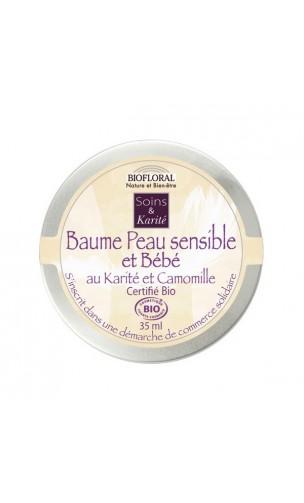 Baume BIO - APAISANT– Peau sensible et bébé Karité & Camomille – BIOFLORAL – 35 ml.