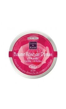 Baume bio  - NOURRISSANT et RÉPARATEUR – Beurre de Karité & Rose de Damas – BIOFLORAL – 35 ml.