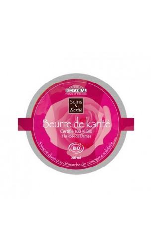 Beurre de karité BIO à la Rose de Damas Effet Nourrissant et Réparateur – BIOFLORAL – 200 ml.