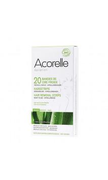 Bandes de cire froide Hypoallergéniques Prêtes à l'usage - Visage - Acorelle - 20 Ud.