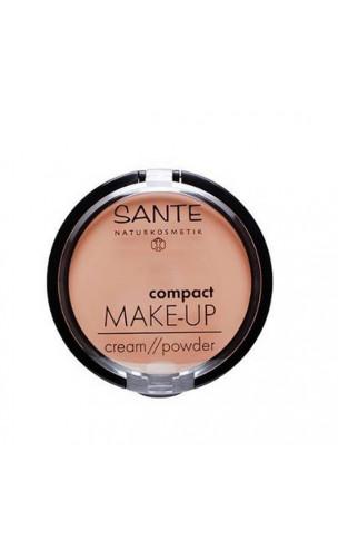 Fond de teint compact bio Poudre / Crémeuse 01 Vanille - SANTE - 9 g.