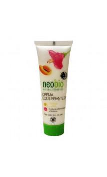 Crème visage bio Équilibrante 24 h. Huile d'abricot & Hibiscus - Neobio - 50 ml.