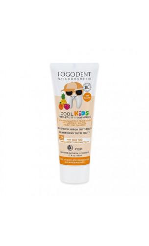 Dentífrico bio Tutti Frutti Logodent Kids - LOGONA - 50 ml.