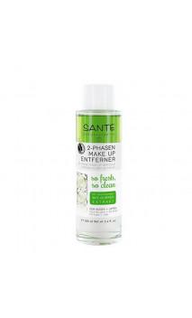 Aceite desmaquillante bifásico con Pepino bio Ojos & Labios - SANTE - 100 ml.