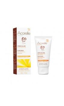 Crème solaire Visage naturelle SPF 50 Sans parfum - Acorelle - 50 ml.