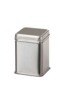 Boîte argentée pour le thé bio en vrac 50 g. - Alveus