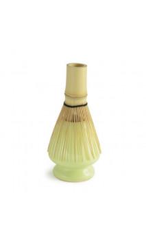 Soporte de porcelana verde para la escobilla de bambú - Japón - Alveus