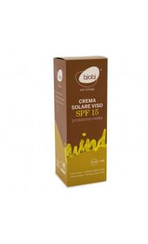 Crème solaire BIO pour le visage FPS 15 - Bjobj - 50 ml.