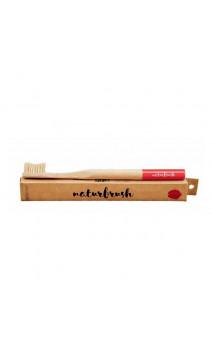 Cepillo de dientes de Bambú para adultos Rojo - Naturbrush