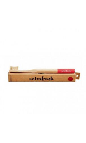 Brosse à dents en bambou pour adultes Rouge - Naturbrush