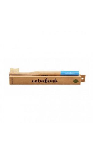 Brosse à dents en bambou pour adultes Bleu - Naturbrush