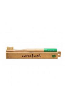 Brosse à dents en bambou pour adultes Vert - Naturbrush