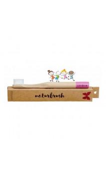 Brosse à dents en bambou pour enfants Rose - Naturbrush