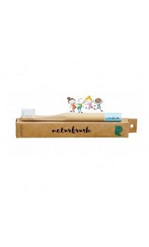 Brosse à dents en bambou pour enfants Bleu - Naturbrush