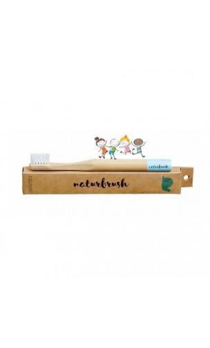 Cepillo de dientes de Bambú para niños Azul - Naturbrush - Naturbrush