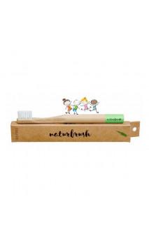 Brosse à dents en bambou pour enfants vert - Naturbrush