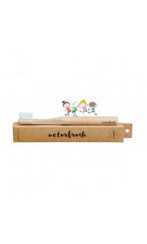 Brosse à dents en bambou pour enfants Nude (naturel) - Naturbrush