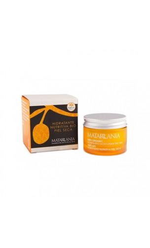 Crème visage bio 100% hydratante nourrissante pour peaux sèches- Matarrania - 60 ml.