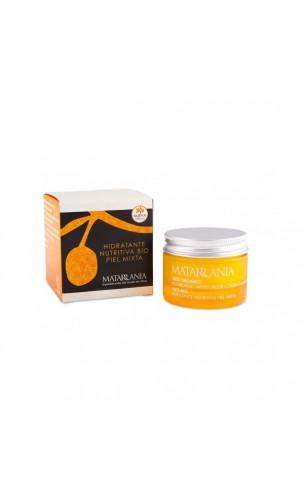 Crème visage bio 100% hydratante nourrissante pour peaux mixtes - Matarrania - 60 ml.
