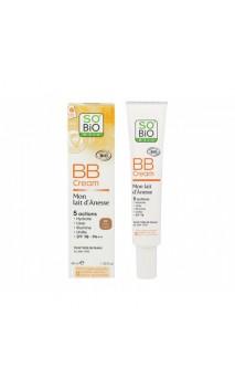 BB Cream nº2 ecológica de leche de burra (beige soyeux) - Crema con color - FPS 10 - Mon Lait d'Anesse SO'BiO étic - 40 ml.